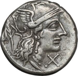 obverse: M. Papirius Carbo.AR Denarius, circa 122 B.C