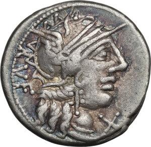 obverse: Q. Minucius Rufus.AR Denarius, 122 BC