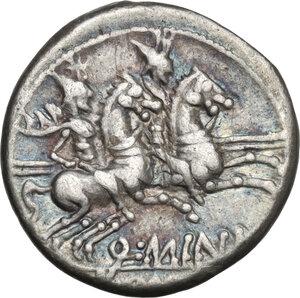 reverse: Q. Minucius Rufus.AR Denarius, 122 BC