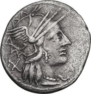 obverse: Cn. Carbo.AR Denarius, 121 BC
