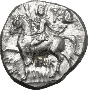 obverse: Southern Apulia, Tarentum. AR Nomos, circa 240-228 BC