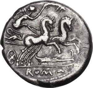 reverse: M. Cipius M.f.AR Denarius, 115 or 114 BC
