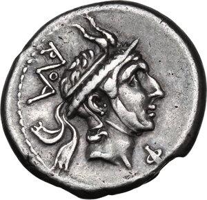 obverse: L. Philippus.AR Denarius, 113 or 11 BC