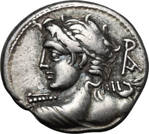 obverse: Lucius Caesius.AR Denarius, 112-111 BC