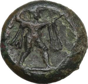 obverse: Northern Lucania, Posidonia. AE 14 mm. c. 350-290 BC