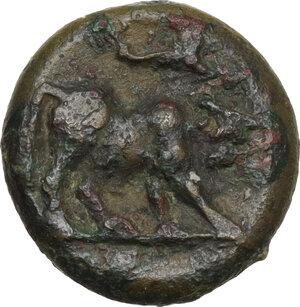 reverse: Northern Lucania, Posidonia. AE 14 mm. c. 350-290 BC