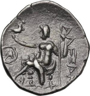 reverse: Celtic, Eastern Europe. AR Drachm imitating Alexander III of Macedon, c. 3rd century BC, Chios mint