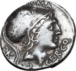 obverse: Q. Lutatius Cerco.AR Denarius, 109-108 BC