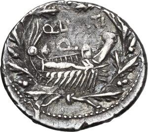 reverse: Q. Lutatius Cerco.AR Denarius, 109-108 BC