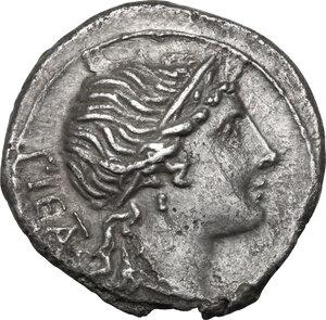 obverse: M. Herennius. AR Denarius, 108-107 BC