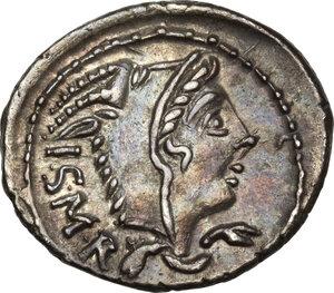 obverse: L. Thorius Balbus.AR Denarius, 105 BC