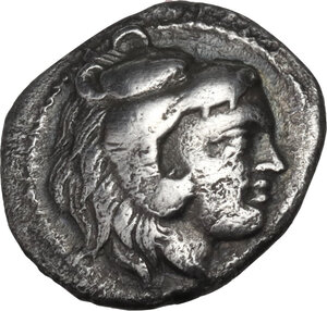 obverse: Southern Lucania, Heraclea. AR Diobol, 432-420 BC