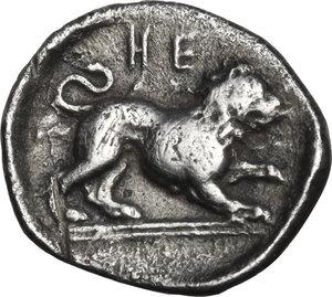reverse: Southern Lucania, Heraclea. AR Diobol, 432-420 BC