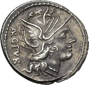 obverse: L. Sentius C.f.AR Denarius, 101 BC