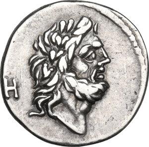 obverse: T. Cloelius.AR Quinarius, 98 BC