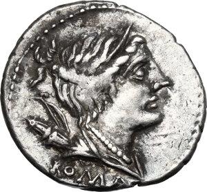 obverse: A. Albinus Sp.f.AR Denarius, 96 BC