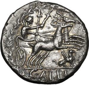 reverse: C. Allius Bala . AR Denarius, ca 92 B.C