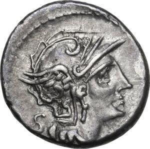 obverse: D. Silanus L.f.AR Denarius, 91 BC