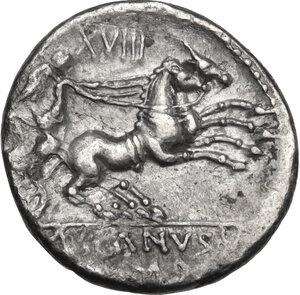 reverse: D. Silanus L.f.AR Denarius, 91 BC