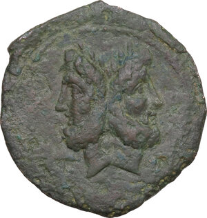 obverse: Anonymous. AE As, c. 91 BC