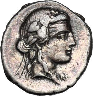 obverse: Q. Titius.AR Denarius, 90 BC