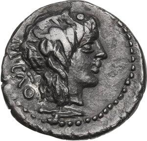 obverse: M. Cato.AR Quinarius, 89 BC