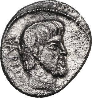 obverse: L. Titurius L. f. Sabinus.AR Denarius, 89 BC