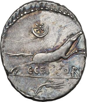 reverse: C. Censorinus.AR Denarius, 88 BC
