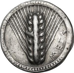 obverse: Southern Lucania, Metapontum. AR Nomos, 540-510 BC