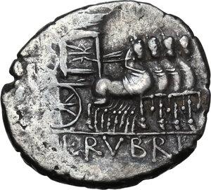 reverse: L. Rubrius Dossenus.AR Denarius, 87 BC
