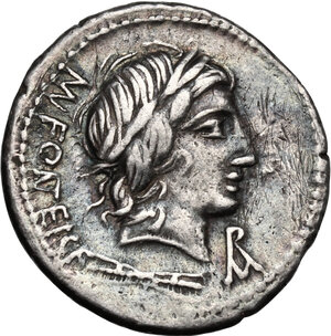 obverse: Mn. Fonteius C. f.AR Denarius, 85 BC