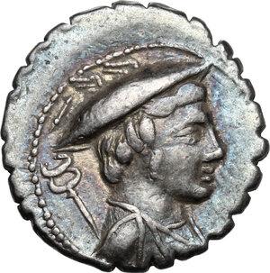 obverse: C. Mamilius Limetanus.AR Denarius serratus, 82 BC