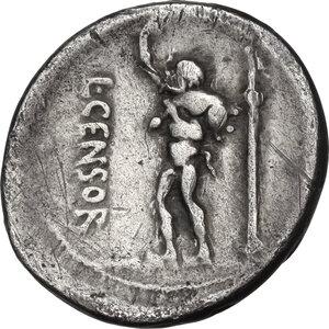 reverse: L. Censorinus. AR Denarius, 82 BC