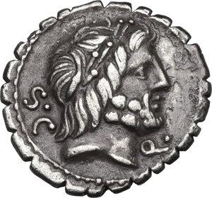 obverse: Q. Antonius Balbus.AR Denarius serratus, 83-82 BC