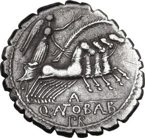 reverse: Q. Antonius Balbus.AR Denarius serratus, 83-82 BC