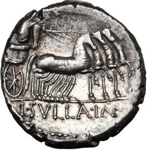reverse: L. Manlius Torquatus.AR Denarius, 82 BC