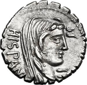 obverse: A. Postumius A.f. Sp. n. Albinus.AR Denarius serratus, 81 BC