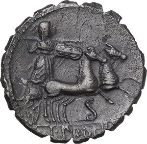 reverse: L. Procilius.AR Denarius serratus, 80 BC