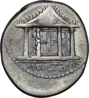 reverse: M. Volteius M.f.AR Denarius, 78 BC