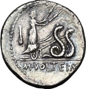 reverse: M. Volteius M.f.AR Denarius 78 BC