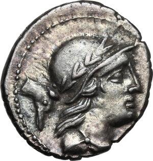 obverse: M. Volteius M.f.AR Denarius, 78 BC