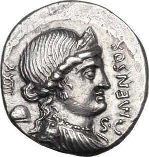 obverse: L. Farsuleius Mensor.AR Denarius, 75 BC