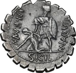 reverse: Mn. Aquillius Mn. f. Mn. n.AR Denarius serratus, 71 BC