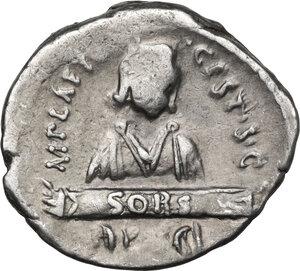 reverse: M. Plaetorius M. f. Cestianus.AR Denarius, 67 BC