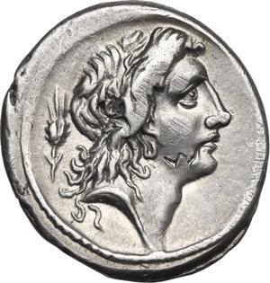 obverse: M. Plaetorius M. f. Cestianus.AR Denarius, 69 BC