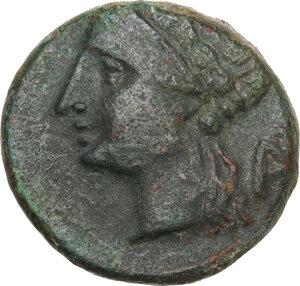 obverse: Southern Lucania, Thurium. AE 15 mm. c.280-260 BC