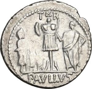 reverse: L. Aemilius Lepidus Paullus. AR Denarius, 62 BC