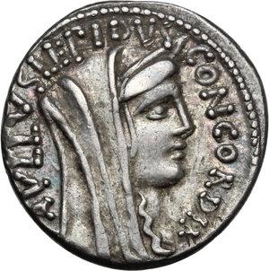 obverse: L. Aemilius Lepidus Paullus. AR Denarius, 62 BC