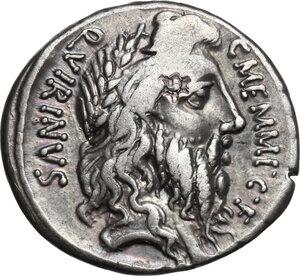 obverse: C. Memmius C.f.AR Denarius, 56 BC