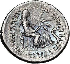 reverse: C. Memmius C.f.AR Denarius, 56 BC